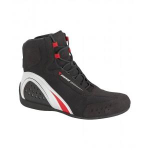 Dainese Motorshoe D-WP® μαύρο-λευκό-κόκκινο
