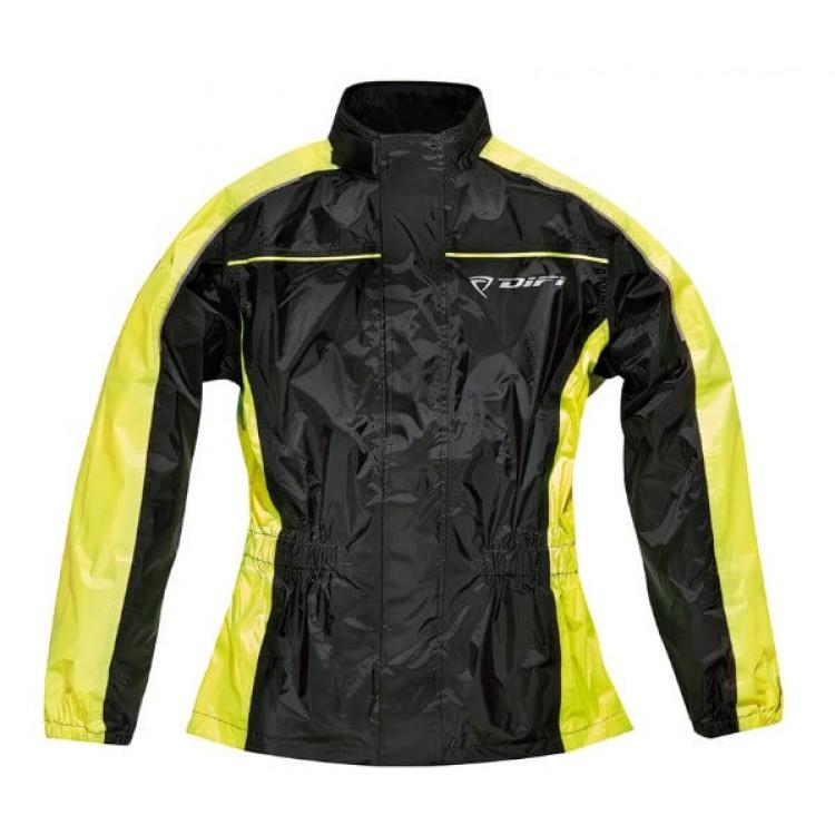 Αδιάβροχο μπουφάν Difi Bristol μαύρο-κίτρινο neon