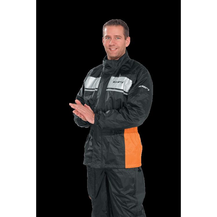 Αδιάβροχο μπουφάν Difi Seismo μαύρο-πορτοκαλί