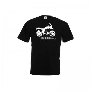 T-shirt DS Bike Protection ONE WORLD BMW R 1200 GS μαύρο