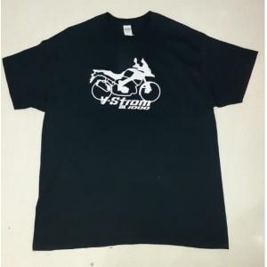 T-shirt DS Bike Protection Suzuki DL 1000 V-Strom μαύρο
