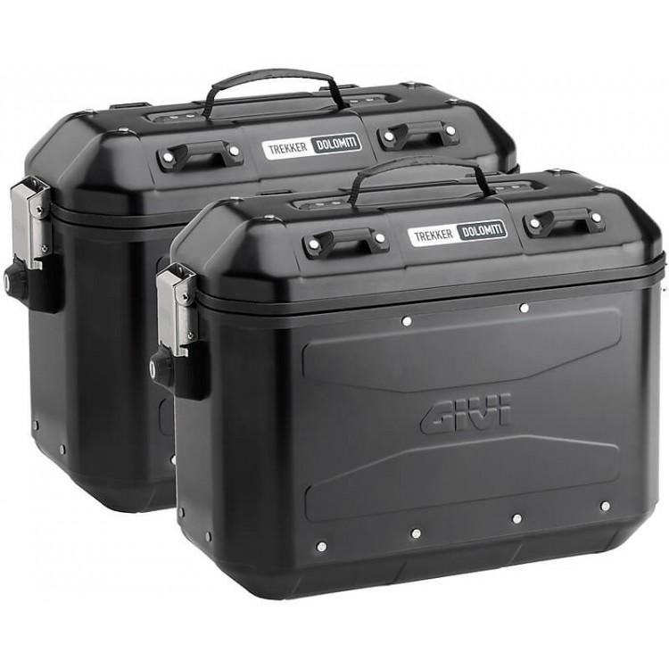 Βαλίτσες αλουμινίου GIVI TREKKER Dolomiti 36 lt (set) μαύρες