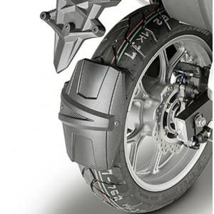 Φτερό - λασπωτήρας (πίσω) RM02 GIVI Suzuki DL 1000 V-Strom 17- μαύρο ματ