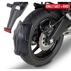 Φτερό - λασπωτήρας (πίσω) RM01 GIVI Kawasaki Versys 650 15- μαύρο ματ
