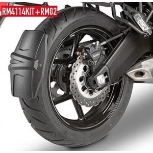 Φτερό - λασπωτήρας (πίσω) RM02 GIVI Kawasaki Versys 650 15- μαύρο ματ