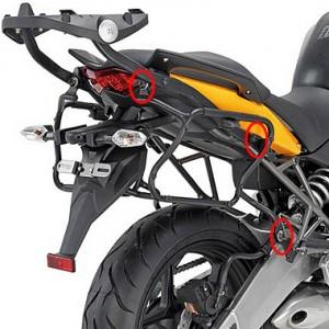 Βάσεις πλαϊνών βαλιτσών rapidlock GIVI V35/Kappa K33 Kawasaki Versys 10-14