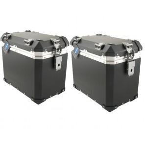 Σετ βαλιτσών (2) Globescout XPAN 45 lt. (πλήρες σετ) μαύρη