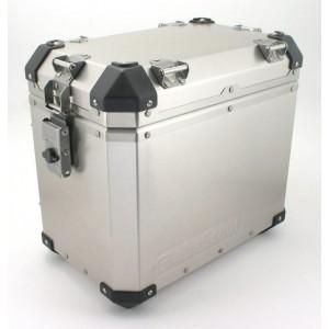 Πλαϊνή βαλίτσα αλουμινίου GlobeScout 35 lt. ασημί
