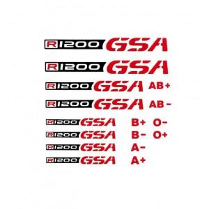 Αυτοκόλλητο R 1200 GS/Adv. & ομάδες αίματος