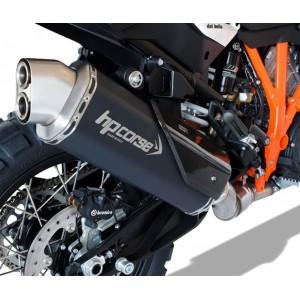 Τελικό εξάτμισης HP Corse 4-Track R KTM 1290 Super Adventure S/T/R ανοξείδωτο ατσάλι μαύρο