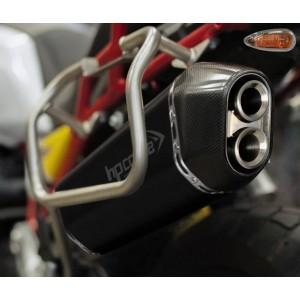 Τελικό εξάτμισης HP Corse SPS Moto Guzzi V85 TT ανοξείδωτο ατσάλι μαύρο-carbon