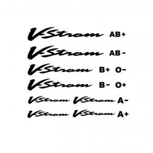 Αυτοκόλλητο V-Strom & ομάδες αίματος