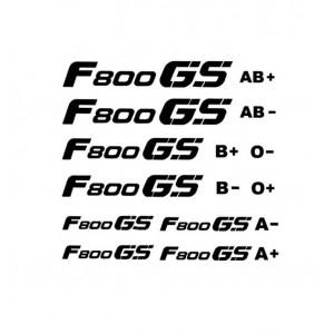 Αυτοκόλλητο F 800 GS & ομάδες αίματος