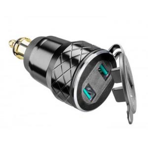 Αντάπτορας αλουμινίου Interphone με διπλό USB για BMW/KTM/Triumph