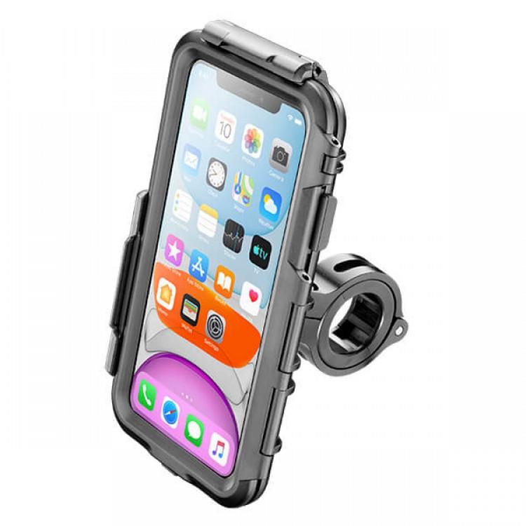 Βάση κινητού iPhone 11/XR Interphone για μπαράκια/τιμόνια (12 εώς 30mm)