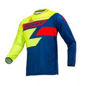 Μπλούζα Motocross Kenny Track κίτρινο-μπλε-κόκκινο