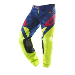 Παντελόνι Motocross Kenny Track κίτρινο-μπλε-κόκκινο