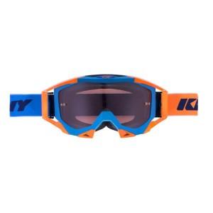 Μάσκα Enduro / MX Kenny Titanium μπλε πορτοκαλί