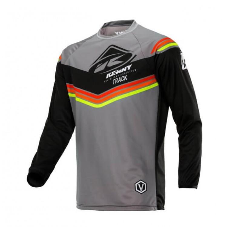 Μπλούζα Motocross Kenny Track  γκρι μαύρο πορτοκαλί