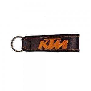 Μπρελόκ δερματίνη με λογότυπο KTM μαύρο - πορτοκαλί