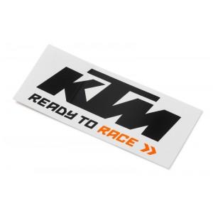 Αυτοκόλλητο KTM μαύρο - πορτοκαλί