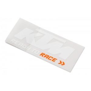Αυτοκόλλητο KTM λευκό - πορτοκαλί
