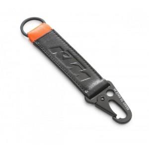 Μπρελόκ δερμάτινο KTM Pure μαύρο-πορτοκαλί