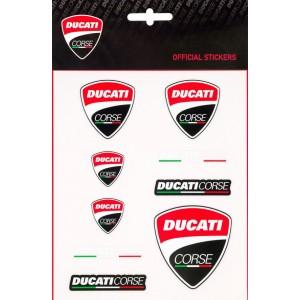 Αυτοκόλλητα Ducati Corse σετ 9 τεμ.