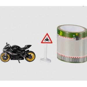 Μινιατούρα 1:64 Ducati Panigale με πίστα αγώνων μαύρη