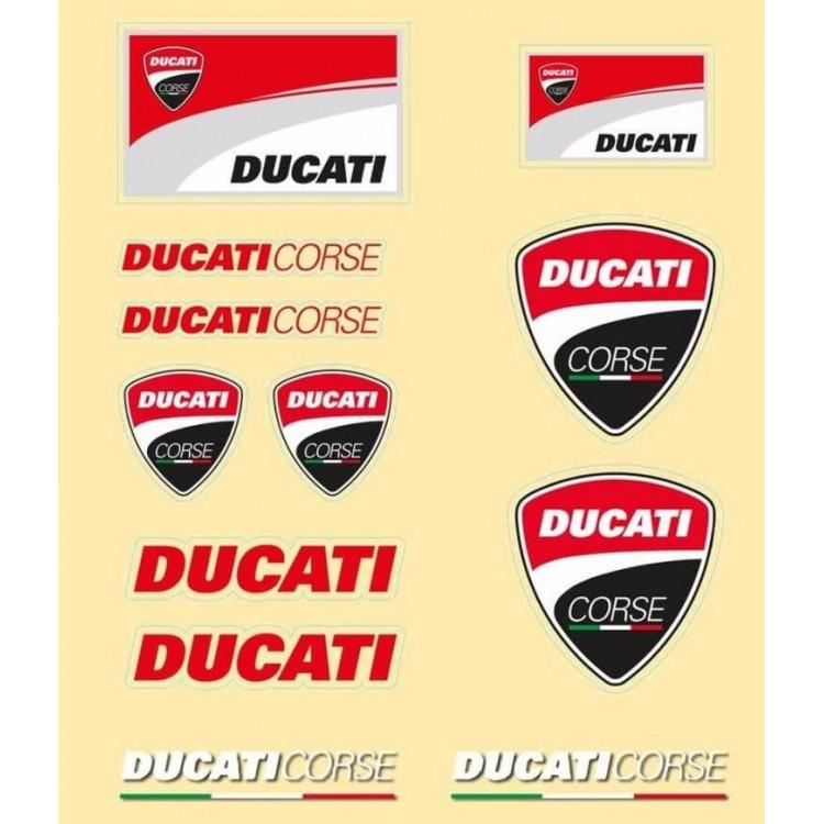Αυτοκόλλητα Ducati Corse σετ 12 τεμ.