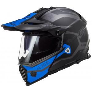 LS2 Dual Sport  MX436 Pioneer Cobra μαύρο μπλε ματ