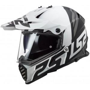 LS2 Dual Sport  MX436 Pioneer Evolve άσπρο μαύρο ματ