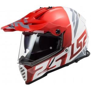 LS2 Dual Sport  MX436 Pioneer-EVO Evolve κόκκινο άσπρο