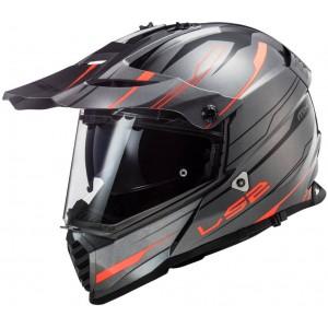 LS2 Dual Sport  MX436 Pioneer Knight τιτάνιο fluo πορτοκαλί