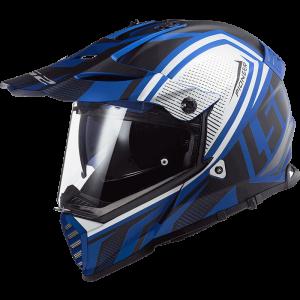LS2 Dual Sport  MX436 Pioneer-EVO Master μαύρο μπλε ματ