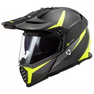 LS2 Dual Sport  MX436 Pioneer Router μαύρο neon κίτρινο ματ