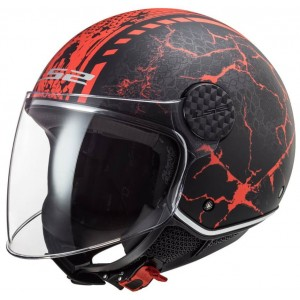 LS2 Sphere Lux OF558 Snake μαύρο κόκκινο ματ