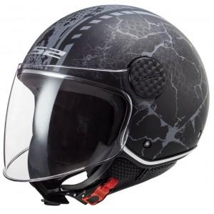 LS2 Sphere Lux OF558 Snake μαύρο τιτάνιο ματ