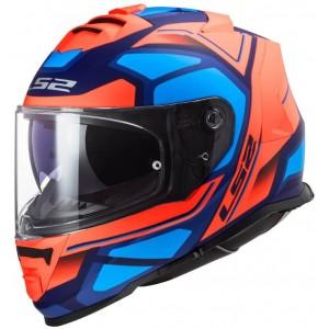 LS2 Storm FF800 Faster fluo πορτοκαλί μπλε ματ