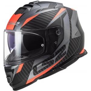 LS2 Storm FF800 Racer τιτάνιο fluo πορτοκαλί ματ