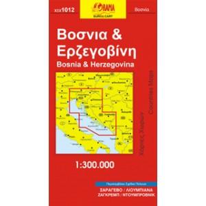 Χάρτης Βοσνία & Ερζεγοβίνη 1:300.000