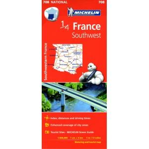 Χάρτης Νοτιοδυτικής  Γαλλίας Michelin road map