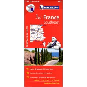 Χάρτης Νοτιοανατολικής Γαλλίας Michelin road map
