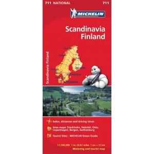 Χάρτης Σκανδιναβία - Φινλανδία Michelin road map