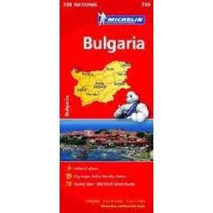 Χάρτης Βουλγαρίας Michelin road map