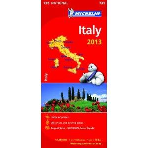 Χάρτης Ιταλίας Michelin road map