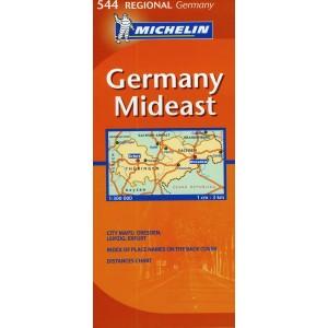 Χάρτης Ανατολικής Γερμανίας Michelin road map 1:300.000