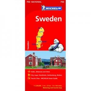 Χάρτης Σουηδίας Michelin road map