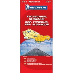 Χάρτης Τσεχία-Σλοβακία Michelin road map