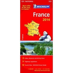 Χάρτης Γαλλίας Michelin road map